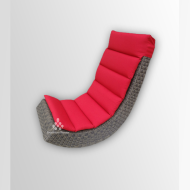 A synthetic Lazy Rattan Relax Chair
